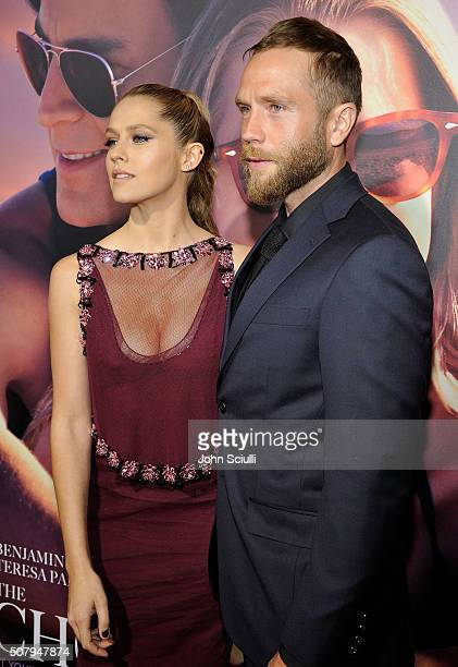 Actress Teresa Palmer and husband Mark Webber attend the premiere of Lionsgate's The Choice at ArcLight Cinemas on February 1 2016 in Hollywood...