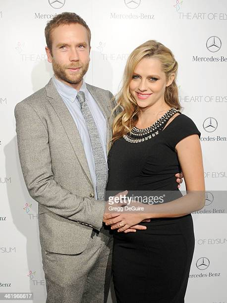 Actress Teresa Palmer and Mark Webber arrive at The Art of Elysium's 7th Annual HEAVEN Gala at the Guerin Pavilion at the Skirball Cultural Center on...