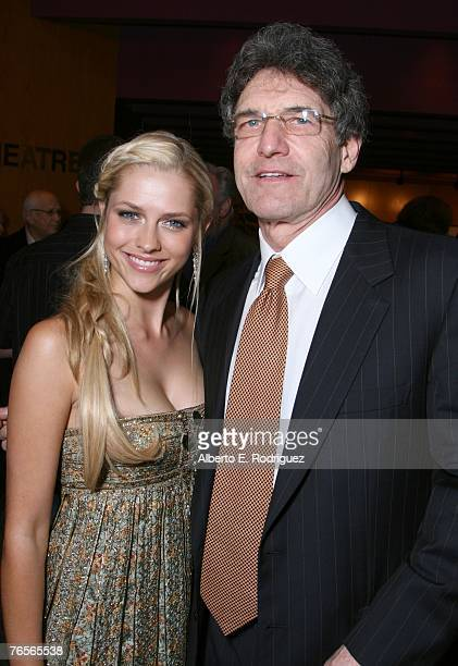 Actress Teresa Palmer and Warner Bros CEO Alan Horn attend the after party at the LA premiere of Warner Independent Pictures' December Boys held at...