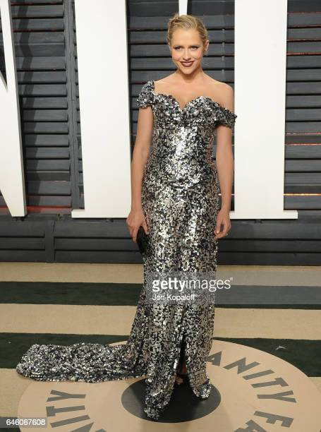 Actress Teresa Palmer arrives at the 2017 Vanity Fair Oscar Party Hosted By Graydon Carter at Wallis Annenberg Center for the Performing Arts on...