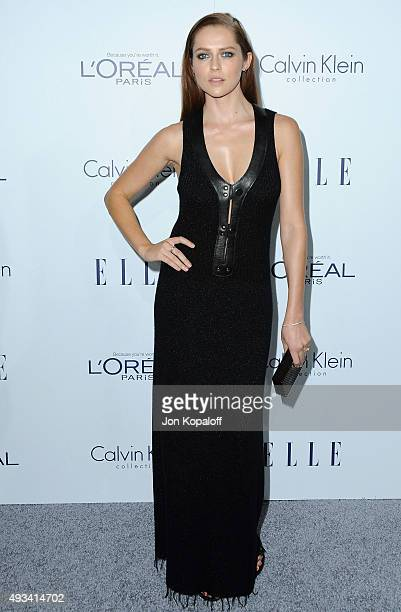 Actress Teresa Palmer arrives at the 22nd Annual ELLE Women In Hollywood Awards at Four Seasons Hotel Los Angeles at Beverly Hills on October 19 2015...