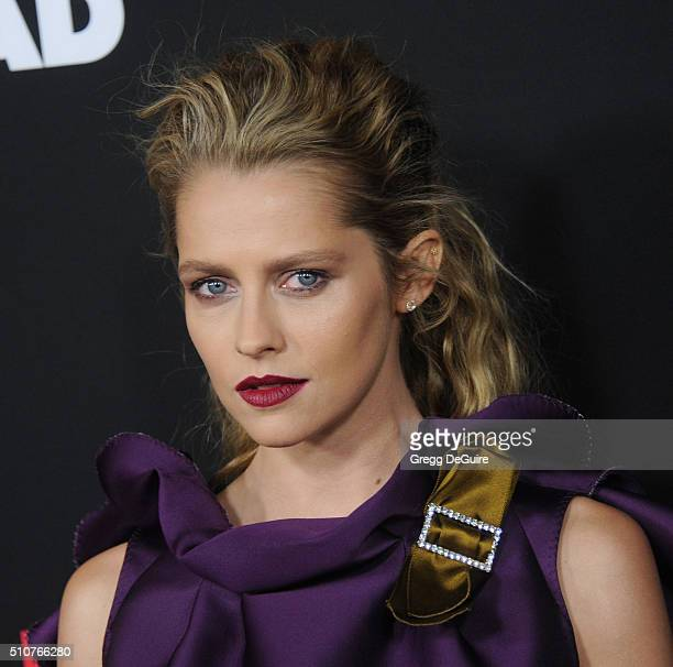 Actress Teresa Palmer arrives at the premiere of Open Road's 'Triple 9' at Regal Cinemas LA Live on February 16 2016 in Los Angeles California