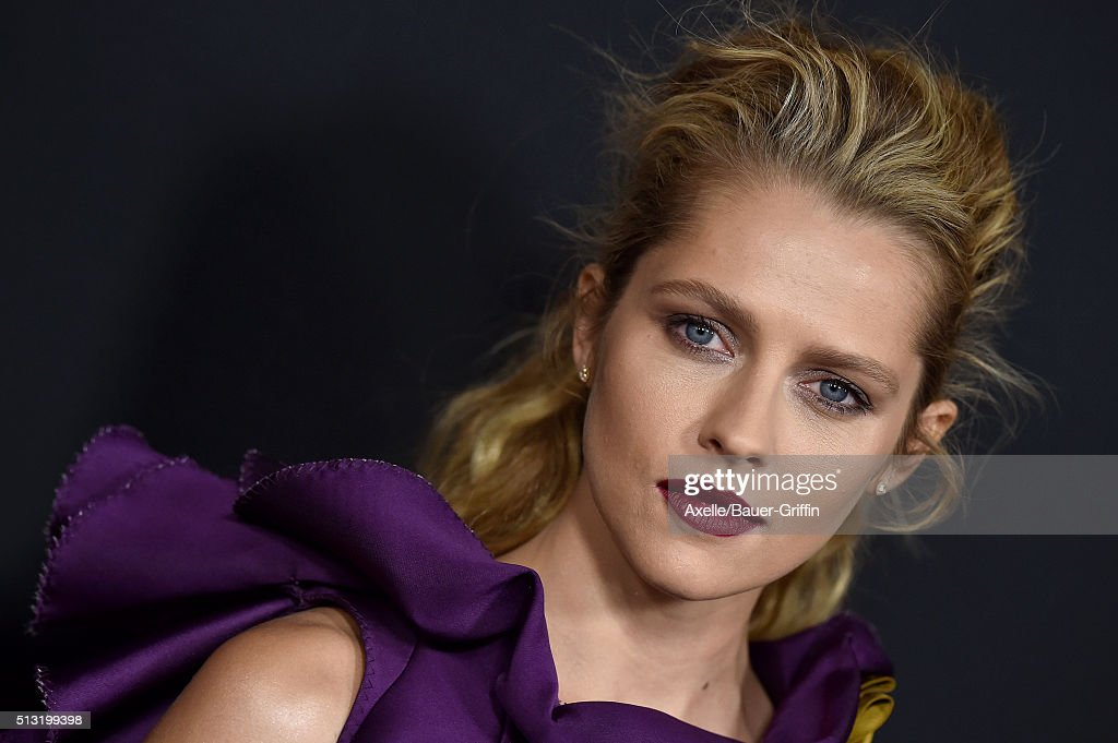 Actress Teresa Palmer arrives at the premiere of Open Road's 'Triple 9' at Regal Cinemas L.A. Live on February 16, 2016 in Los Angeles, California.