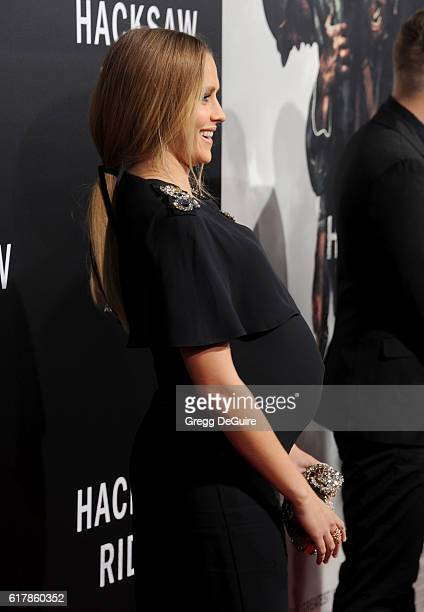 Actress Teresa Palmer arrives at the screening of Summit Entertainment's 'Hacksaw Ridge' at Samuel Goldwyn Theater on October 24 2016 in Beverly...