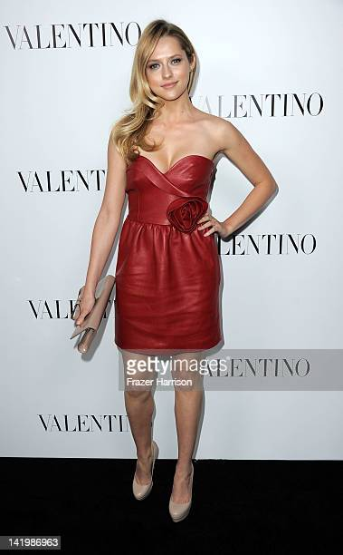Actress Teresa Palmer arrives at the Valentino Rodeo Drive Flagship store opening on March 27 2012 in Beverly Hills California