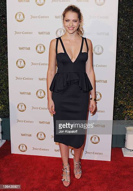 Actress Teresa Palmer arrives at Vanity Fair/Juicy Couture Host Vanities 20th Anniversary And Campaign Hollywood Kick Off Party at Siren Studios on...