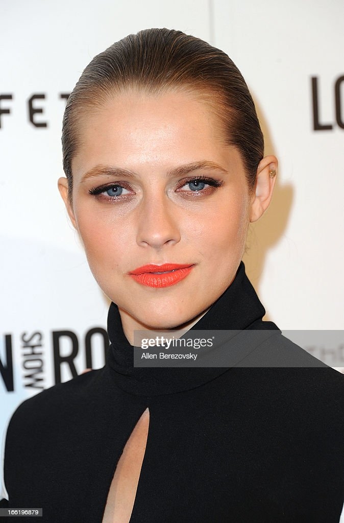 Actress Teresa Palmer attends the British Fashion Council's International Showcasing Initiative 'London Show Rooms LA' at Thompson Hotel on April 9, 2013 in Beverly Hills, California.