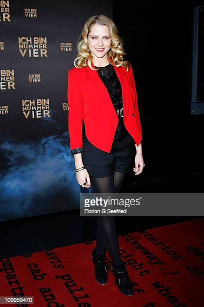 Actress Teresa Palmer attends the Germany Premiere of 'I Am Number Four' at CineStar at Sony Center on March 11 2011 in Berlin Germany