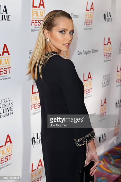 Actress Teresa Palmer attends the premiere of 'Cut Bank' during the 2014 Los Angeles Film Festival at Regal Cinemas LA Live on June 16 2014 in Los...