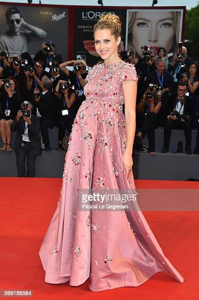 Actress Teresa Palmer attends the premiere of 'Hacksaw Ridge' during the 73rd Venice Film Festival at Sala Grande on September 4 2016 in Venice Italy