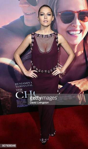 Actress Teresa Palmer attends the premiere of Lionsgate's 'The Choice' at ArcLight Cinemas on February 1 2016 in Hollywood California