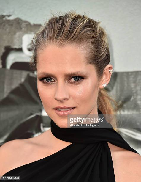 Actress Teresa Palmer attends the premiere of New Line Cinema's 'Lights Out' at the TCL Chinese Theatre on July 19 2016 in Hollywood California