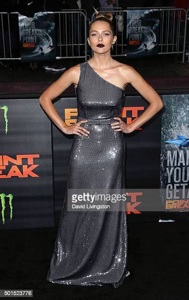Actress Teresa Palmer attends the premiere of Warner Bros Pictures' Point Break at TCL Chinese Theatre on December 15 2015 in Hollywood California