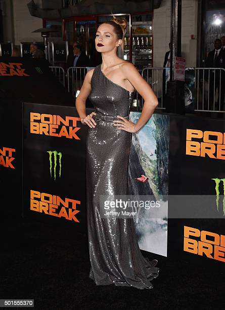 Actress Teresa Palmer attends the premiere of Warner Bros Pictures' 'Point Break' at TCL Chinese Theatre on December 15 2015 in Hollywood California