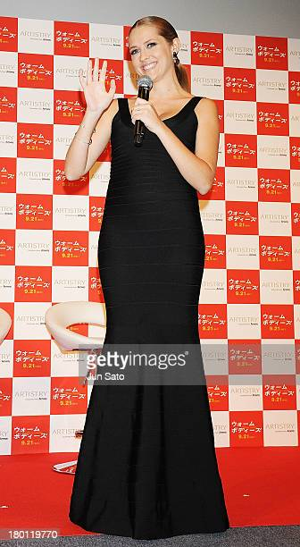 """Actress Teresa Palmer attends the stage greeting of """"Warm Bodies"""" at Space FS Shiodome on September 9, 2013 in Tokyo, Japan."""