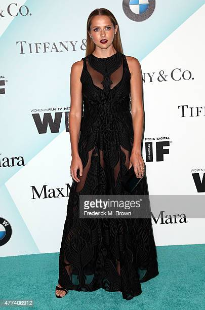 Actress Teresa Palmer attends the Women in Film 2015 Crystal Lucy Awards at the Hyatt Regency Century Plaza Hotel on June 16 2015 in Los Angeles...
