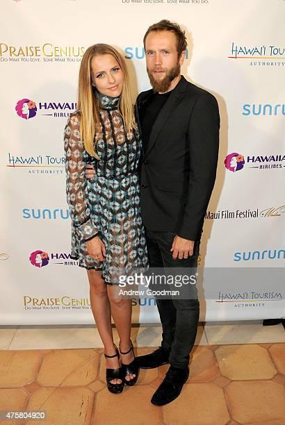 Actress Teresa Palmer recipient of the 2015 Maui Film Festival Rising Star Award and actor/writer Mark Webber attend the 2015 Maui Film Festival at...