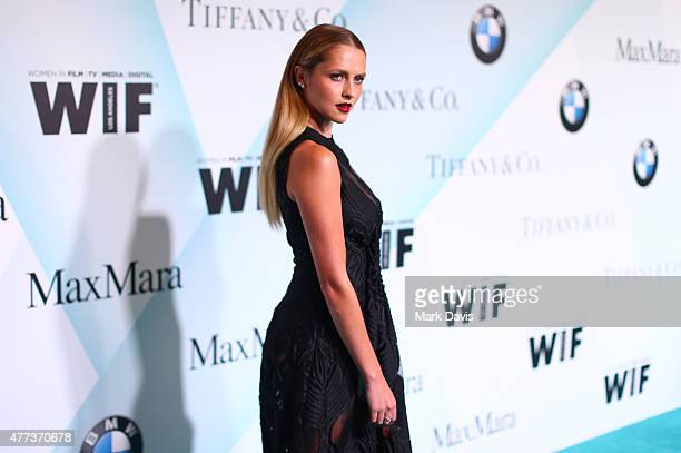 Actress Teresa Palmer wearing Max Mara and Tiffany Co attends the Women In Film 2015 Crystal Lucy Awards Presented by Max Mara BMW of North America...