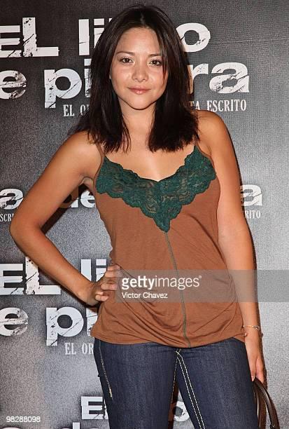 Actress Teresa Ruiz attends the premiere of El Libro de Piedra at Cinepolis Universidad on April 14 2009 in Mexico City Mexico