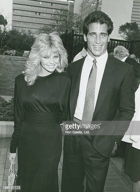 Actress Teri Copley and actor Chris Mayer attending 'NBC Affiliates Party' on May 16 1983 at the La Brea Tar Pits Museum in Los Angeles California