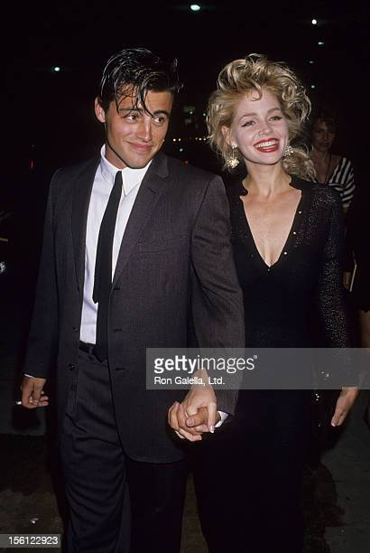 Actress Teri Copley and actor Matt LeBlanc attending 'Grand Opening of Manhattan West Restaurant' on August 4 1989 in Los Angeles California