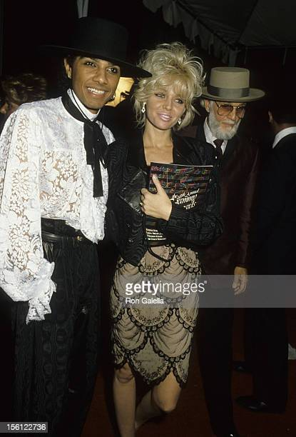 Actress Teri Copley and musician Mickey Free attending 28th Annual Grammy Awards on February 25 1986 at the Shrine Auditorium in Los Angeles...