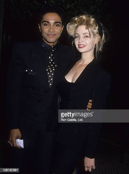 Actress Teri Copley and musician Mickey Free attending Third Annual Soul Train Music Awards on April 11 1989 at the Shrine Auditorium in Los Angeles...