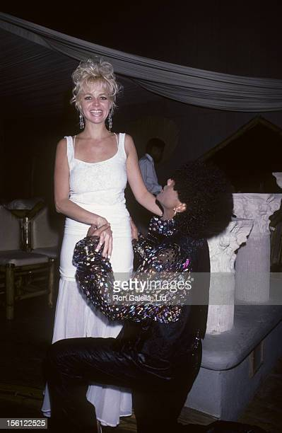 Actress Teri Copley and musician Mickey Free being photographed on December 12 1985 during exclusive photo session at Casa de Camp Resort in...