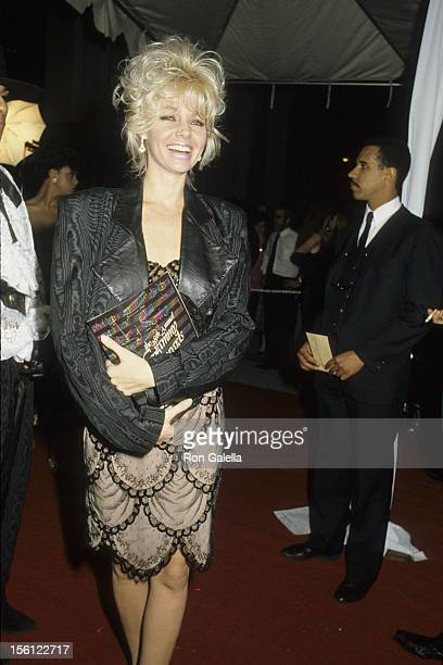 Actress Teri Copley attending 28th Annual Grammy Awards on February 25 1986 at the Shrine Auditorium in Los Angeles California