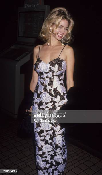 Actress Teri Copley attending 'Pacific Center Gala Honoring Elizabeth Taylor' on November 16 1991 at the Bonaventure Hotel in Los Angeles California