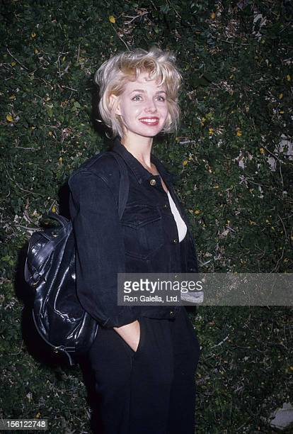 Actress Teri Copley attending the performance of 'Hurleyburley' on December 2 1988 at the Westwood Playhouse in Westwood California