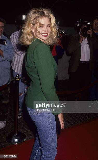 Actress Teri Copley attending the premiere of 'Point Break' on July 10 1991 at Avco Center Cinema in Westwood California