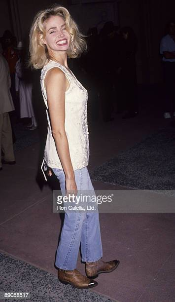 Actress Teri Copley attending the premiere of 'The Gambler Returns' on October 14 1991 at the Academy Theater in Beverly Hills California