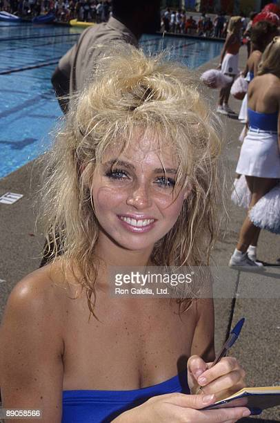 Actress Teri Copley attending the taping of 'Battle of the Network Stars' on October 3 1984 at Pepperdine University in Malibu California