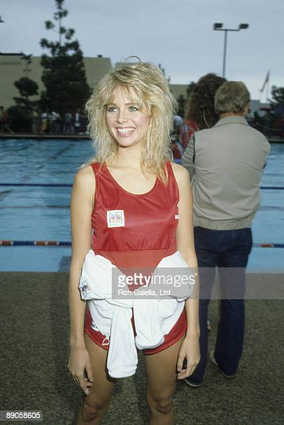 Actress Teri Copley attending the taping of 'Battle of the Network Stars' on October 8 1983 at Pepperdine University in Malibu California