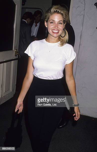 Actress Teri Copley being photographed on June 21 1990 at Bar One Club in Hollywood California