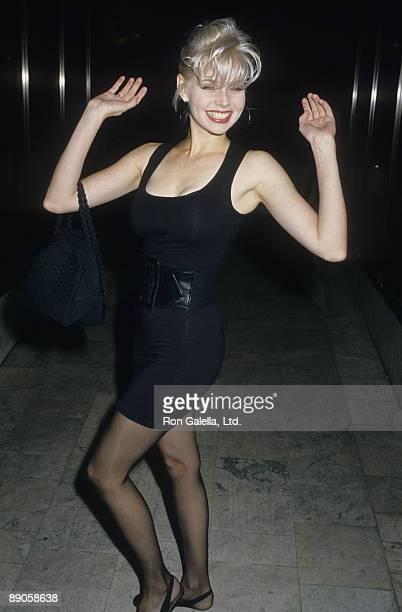 Actress Teri Copley being photoraphed on May 12 1988 at Pip's Nightclub in Los Angeles California