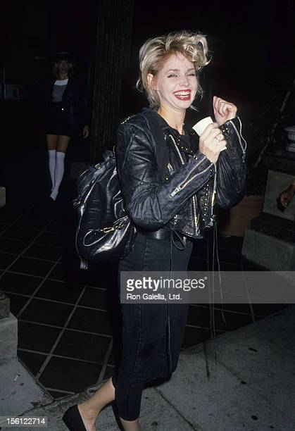 Actress Teri Copley being photoraphed on November 11 1988 at Le Dome Restaurant in West Hollywood California