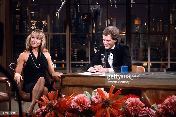 Actress Teri Garr is photographed making an appearance at the Late Show With David Letterman June 3 1982 in New York City
