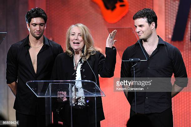 Actress Teri Garr speaks onstage during the 16th Annual Race to Erase MS event themed Rock To Erase MS cochaired by Nancy Davis and Tommy Hilfiger at...