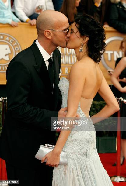 Actress Teri Hatcher and actor Stephen Kay arrive at the 13th Annual Screen Actors Guild Awards held at the Shrine Auditorium on January 28 2007 in...