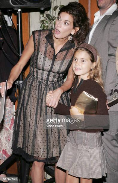 Actress Teri Hatcher and daughter attend the Academy of Television Arts and Sciences' reception for Emmy Award nominees for outstanding performing...
