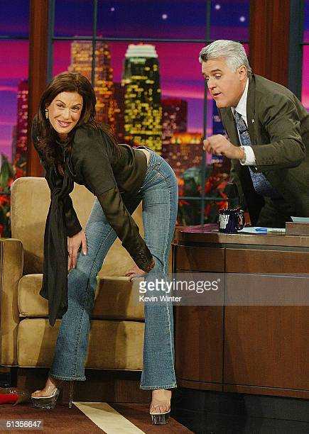 Actress Teri Hatcher appears on 'The Tonight Show with Jay Leno' at the NBC Studios on September 23 2004 in Burbank California