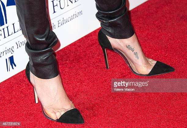 Actress Teri Hatcher arrives at the 20th Annual Fulfillment Fund Stars Benefit Gala at The Beverly Hilton Hotel on October 14 2014 in Beverly Hills...