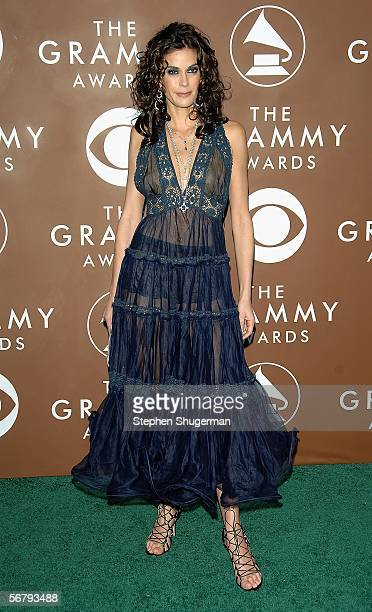 Actress Teri Hatcher arrives at the 48th Annual Grammy Awards at the Staples Center on February 8 2006 in Los Angeles California