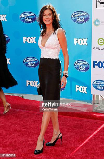 Actress Teri Hatcher arrives at the American Idol Season 7 Grand Finale held at the Nokia Theatre on May 21 2008 in Los Angeles California