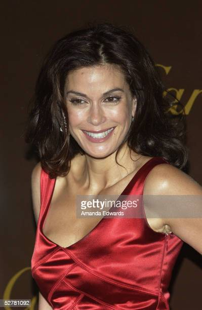 Actress Teri Hatcher arrives at the reopening and 25th anniversary of Cartier Beverly Hills at the Cartier boutique on Rodeo Drive on May 9 2005 in...