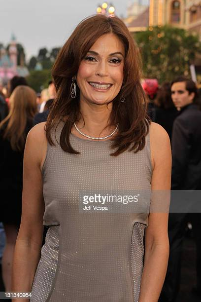 Actress Teri Hatcher arrives at the world premiere of 'Pirates of the Caribbean On Stranger Tides' at Disneyland on May 7 2011 in Anaheim California