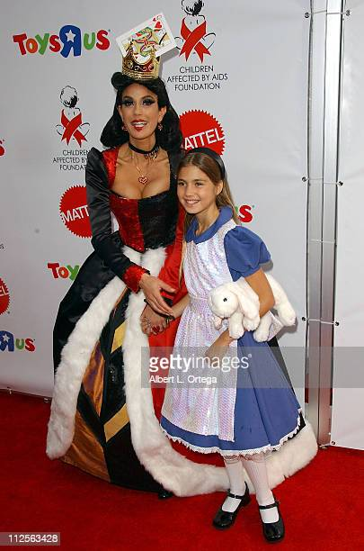 Actress Teri Hatcher as The Queen of Hearts and daughter Emerson Tenney as Alice arrive at the 2007 Dream Halloween 'Under The Big Top' hosted by...
