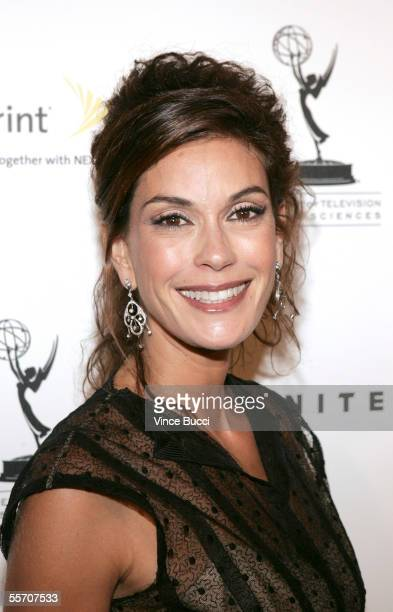 Actress Teri Hatcher attends the Academy of Television Arts and Sciences' reception for Emmy Award nominees for outstanding performing talent at...